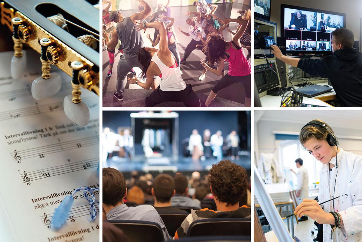 Bilder från Estetiska programmet
