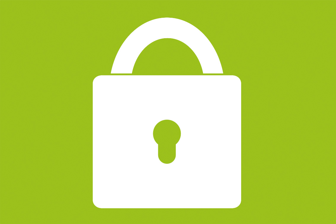 Lås-ikon på grön bakgrund - Ansökan är stängd